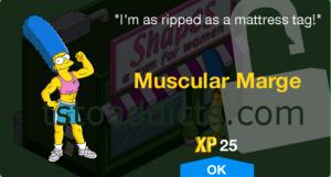 Muscular Marge Unlock Screen