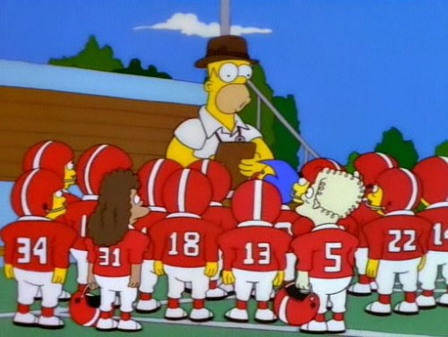 football simpsons