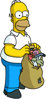 Homer Collect Garbage 1