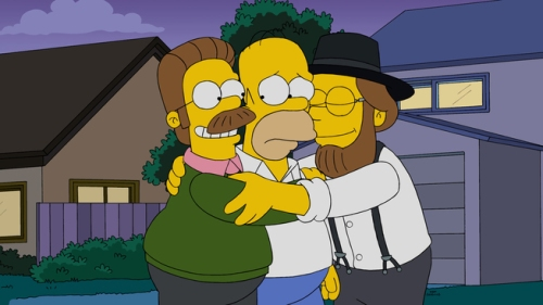 THE SIMPSONS: Homer meets Neds country cousin in the all-new ÒLisa with an ÔSÕÓ episode of THE SIMPSONS airing Sunday, Nov. 22 (8:00-8:30 PM ET/PT) on FOX.. THE SIMPSONS ª and © 2015 TCFFC ALL RIGHTS RESERVED.