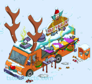 Reindeer Burger Truck Vandalized