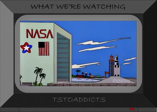 NASA Space Training Center & Rocket Launch Platform Simpsons