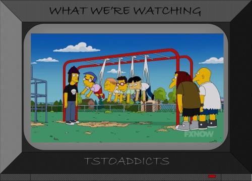 Nerd Newton's Cradle Simpsons