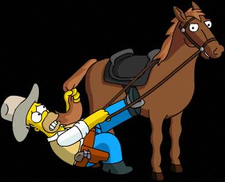homer_cowboy_practice_horseback_riding