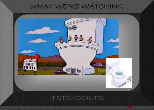 World's Largest Toilet Simpsons