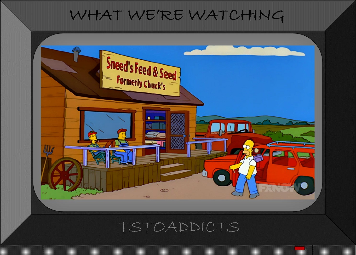where did that come from sneed s feed seedthe simpsons tapped