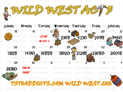 Wild West Calendar Act 3