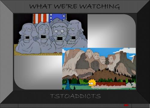 Mount Rushmore Simpsons