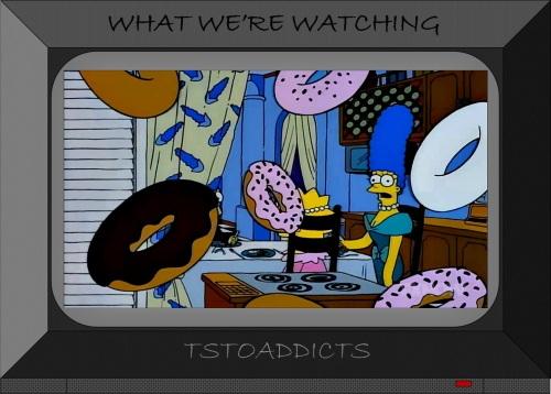 Raining Donuts Simpsons