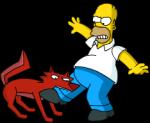 space Coyote bite homer leg