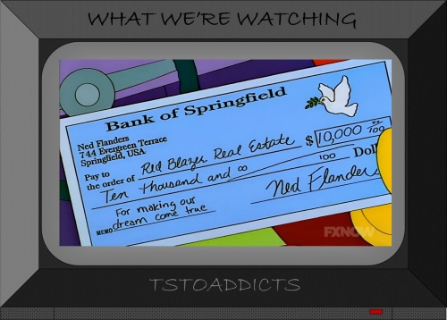 Flanders Check Bank of Springfield Murder House Red Blazer Realty Bites Simpsons
