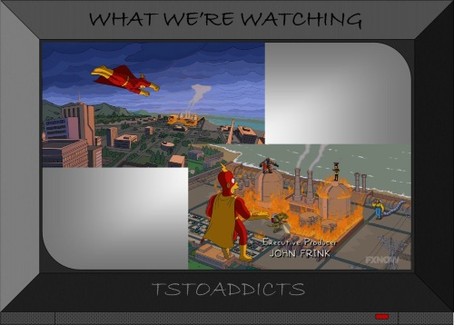 Fossil Fuel Four burn Nuclear Plant Radioactive Man Simpsons