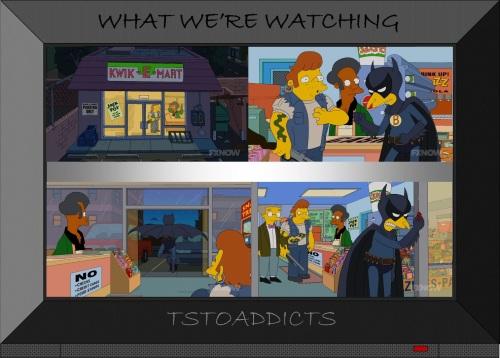 Fruit Batman stops Kwik-E-Mart Robbery Simpsons