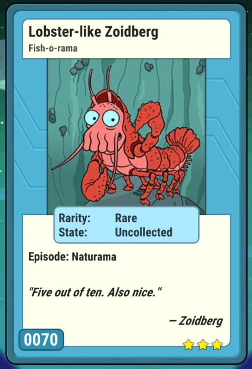 Lobster-like Zoidberg
