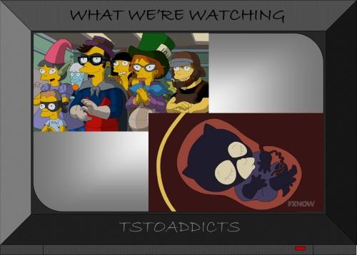 Milo & Pregnant Strawberry Bi-Mon-Sci-Fi-Con Simpsons