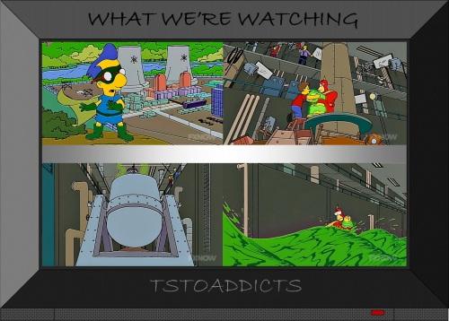 Radioactive Man Film Set Simpsons