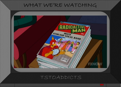 Radioactive Man Meets Starland Vocal Band Comic Simpsons