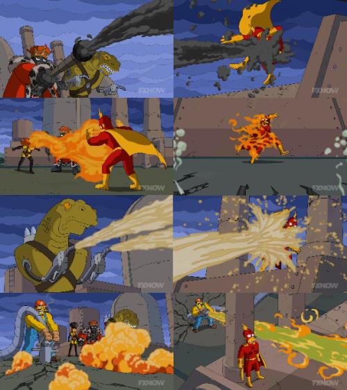 Radioactive Man versus Fossil Fuel Four Simpsons