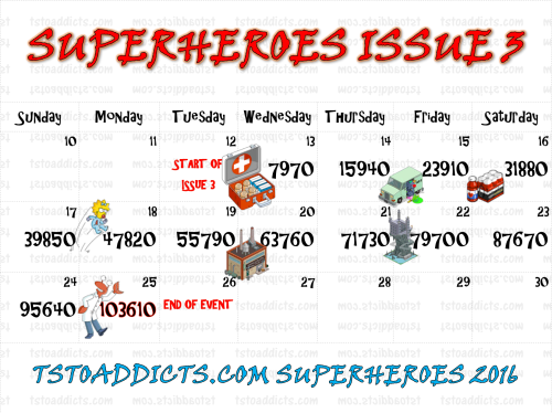 Superheroes 2 Issue 3 Calendar