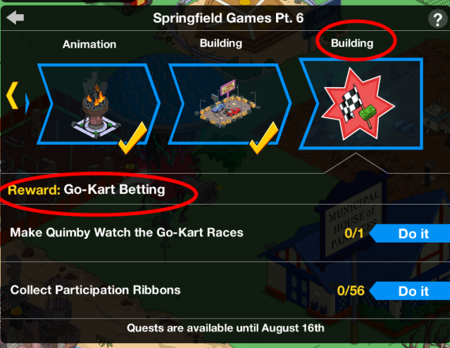 how to win a bet on the springfields down