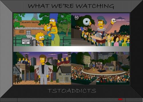 Delacorte Shakespearean Theater NYC Simpsons