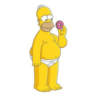 Homer Holding Donut