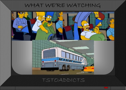 Sit-N-Stare Bus Lines & Ian the Very Tall Man Simpsons