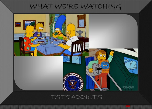 president-lisa-simpson-and-family-and-ralph-in-white-house