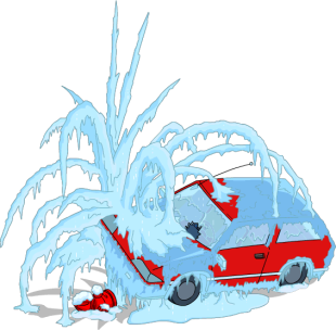 flanders_frozen_car