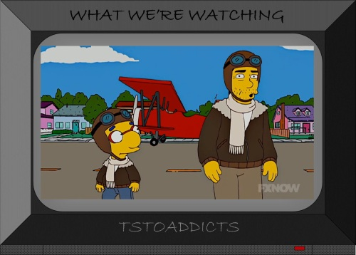 uncle-norberts-biplane-and-milhouse-simpsons