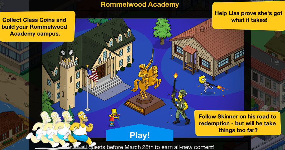 Turbo Tappin' Rommelwood Academy: Main Questline and