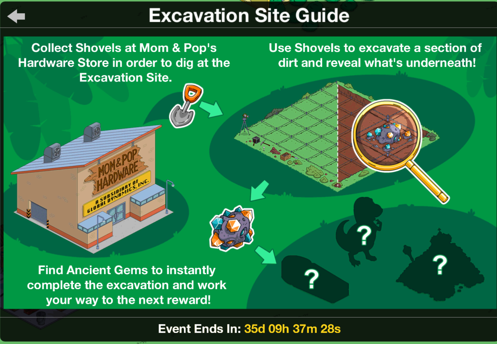 ttt prehistoric era how to excavation sitethe simpsons tapped out