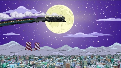 Image result for the polar express simpsons