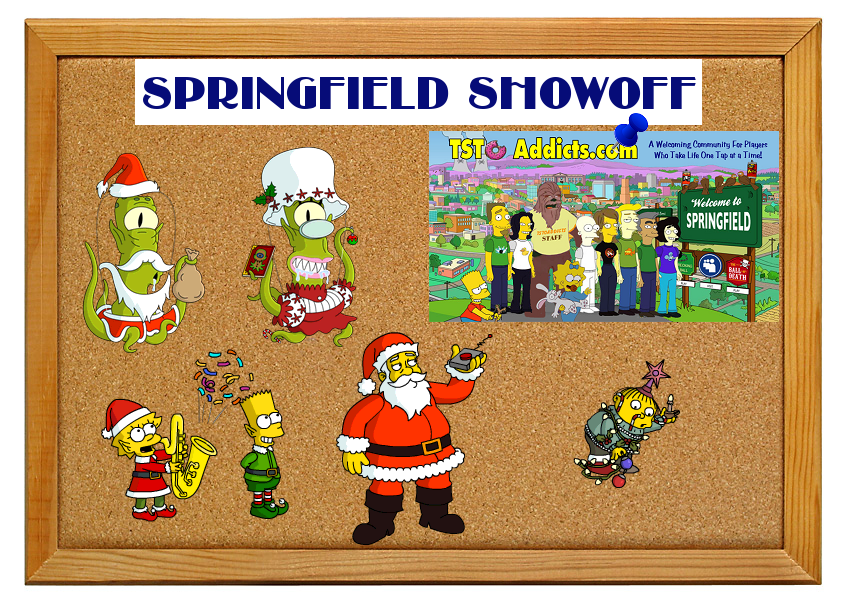 Simpsons tapped out christmas 2018 spin prizes
