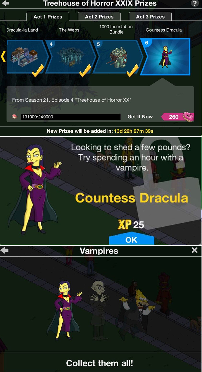 Treehouse of Horrors XXIX -Prize Guide – Countess DraculaThe