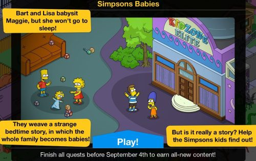 Simpson Babies: Turbo Tappin' Week 1, The Younger GamesThe Simpsons