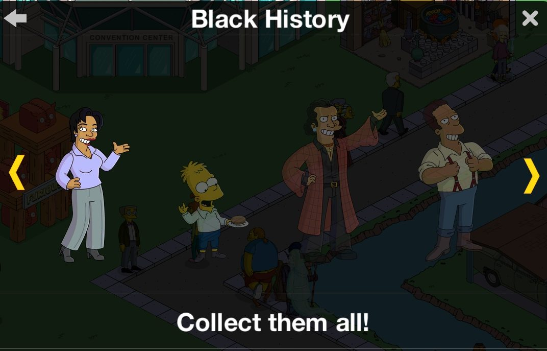 The Simpsons Tapped Out Halloween 2020 Act 2 Black History Month Prize Guide: Act 2, Prize 3 OpalThe Simpsons